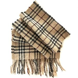 BURBERRY London Classic check textured scarf
